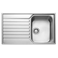 FRANKE ASCONA INSET SINK STAINLESS STEEL 1 BOWL 860 X 510MM