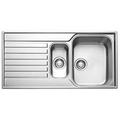 FRANKE ASCONA INSET SINK STAINLESS STEEL 1.5 BOWL 1000 X 510MM (37197)