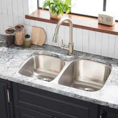 Large Square Undermount Sink