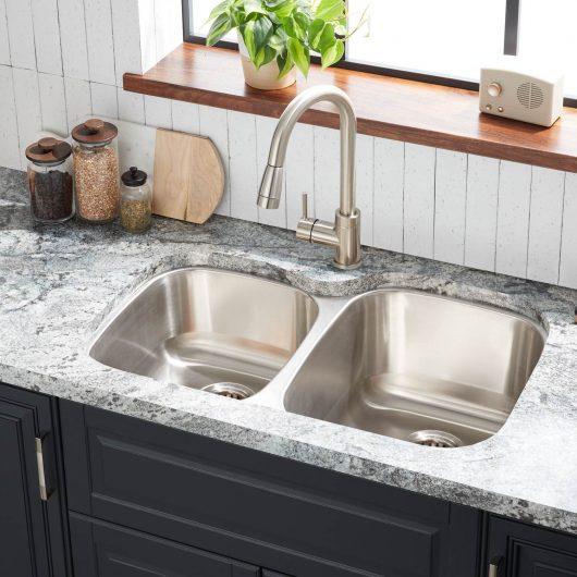 Large Square Undermount Sink